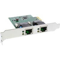 Double carte réseau InLine® Gigabit PCI Express 2x 1 Go / s PCIe x1