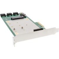 Contrôleur RAID InLine® 2x M.2 NGFF 4x SATA 6Gb / s RAID 0/1/10 / JBOD PCI-E