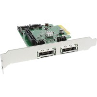 Contrôleur RAID InLine® 4x SATA 6Gb / s RAID 0/1/10 / JBOD / 4x SATA + 2x eSATA