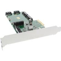 Contrôleur RAID InLine® 4x SATA 6Gb / s RAID 0/1/10 / JBOD / 4x SATA + 2x mSATA