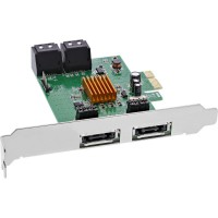 Contrôleur InLine® SATA 6 Gb / s avec 4x SATA (2x eSATA) PCI-E 2.0