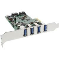Contrôleur hôte InLine® USB 3.0 + SATA PCIe 4x USB 3.0 + 2x SATA 6Gb / s