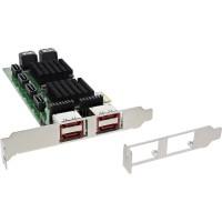 Contrôleur InLine® PCI-Express 2.0 SATA 6 Gb / s, avec 8 SATA (4x eSATA)