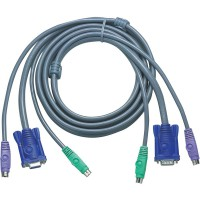 KVM Jeu de câbles, ATEN VGA, PS/2 , 2L-5002P/C, longueur 1,8m