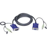 Jeu de câbles audio VGA Aten, 2L-2402A, longueur 1,8 m