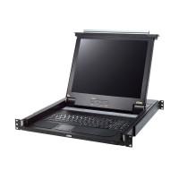 """KVM ATEN CL1000M, console LCD 17 """"Slideaway, avec clavier éclairé par LED (DE), pour armoire réseau 19"""""""