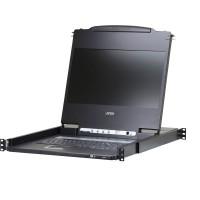 """ATEN CL6700MW, Console USB large écran LCD HD HD 17,3 """"avec support de périphérique USB, format allemand"""