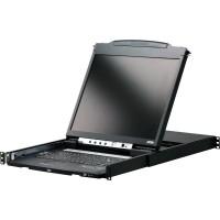 """KVM Aten CL5800 Console LCD coulissante de 48 cm (19 """"), pour armoire de 48 cm (19""""), USB & PS / 2"""
