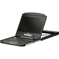 ATEN CL3100NX KVM-Console Console ACL HD WideScreen à double rail et profondeur ultra courte avec 1 rail (USB / VGA), dispositio