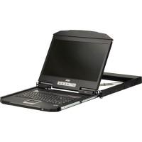 ATEN CL3700NW Console LCD FHD WideScreen à deux rails et profondeur ultra courte avec une profondeur de 1U (USB / HDMI), version