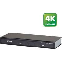 Répartiteur HDMI électronique, Aten VS184A, quadruple, Ultra HD 4K2K (3840x2160px), HDMI 1.4, compatible HDCP, jusqu'à 15 m, noi