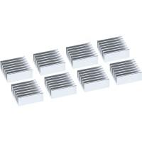 Ailettes de refroidissement auto-adhésives pour évier InLine® IC chip, 8 pcs.