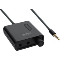 Amplificateur pour casque mobile InLine® avec amplification de la basse et double sortie