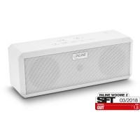 InLine® WOOME 2 - Haut-parleur Bluetooth stéréo sans fil True, blanc