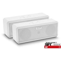 InLine® WOOME 2 - Enceinte stéréo sans fil True True Bluetooth, emballage double, blanc