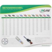 """Tapis de souris InLine® """"Câble Patch Cat.6"""" Laser Ultra-Mince 220x180x0.4mm"""
