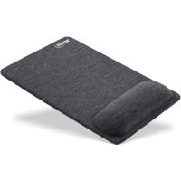 Tapis de souris InLine® avec repose-poignets, textile, noir