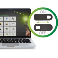 Housse coulissante pour webcam InLine®, noire, paquet de 2