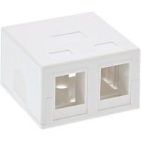 InLine® Surface Mount Box pour Keystone 2x RJ45, blanc