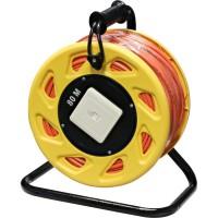 Enrouleur de câble LAN InLine®, Cat. 6A, S / FTP, 80 m