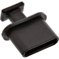 Housse anti-poussière InLine® pour sockets USB Type-C noir 50 pcs. pack