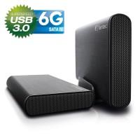 """Ext. Boîtier 8,84 cm (3,5 """"), USB 3.0, DB-AluSky U3 6G de Fantec, pour disque dur SATA 6G (compatible vers le bas), noir"""
