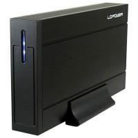 "Boîtier 8,89 cm (3,5 ""), USB 3.0, LC-Power LC-35U3-Sirius, pour disque dur SATA I / II / III, noir"