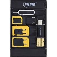 Adaptateur de carte Sim InLine® SIM-BOX et boîtier d'alimentation avec lecteur de cartes otg