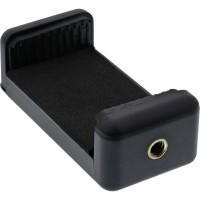 Support de téléphone portable universel InLine® pour trépieds Selfie Stick, noir