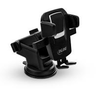 Porte-voiture pour smartphone InLine® Smartphone avec ventouse ONE CLICK EASY, universel, extensible