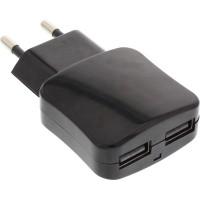 Adaptateur secteur USB InLine® 2 ports 100-240VAC à 5V / 2.1A noir