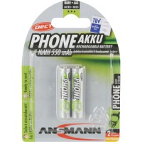 """ANSMANN """"Phone DECT"""" NiMH rechargeable, micro AAA / HR03 / 1.2V, blister double (5035523)"""