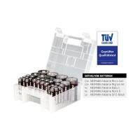 Boîte distributrice ANSMANN 35 pièces, 14 x Micro AAA, 12 x AA Mignon, 4 x Baby C, 4 x Mono D, 1 bloc 9V E (1520-0004)