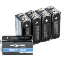 ANSMANN batterie au lithium industrie 9V E-Block, paquet de 5 (1505-0002)