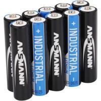 ANSMANN batterie industrielle au lithium Micro AAA, pack de 10 (1501-0010)