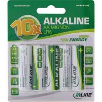 Pile alcaline haute énergie InLine®, Mignon (AA), blister de 10 pièces