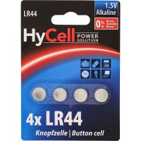 Pile bouton alcaline HyCell, type LR44, 4 pièces Pack