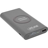 Station de charge sans fil InLine® Qi-Plate Powerbank 8000mAh, gris