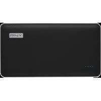 Batterie externe aspect cuir noir PNY