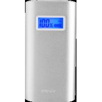 Batterie externe PNY argentée 5200 mAh avec câble USB/micro USB