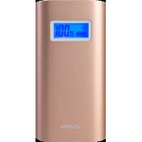 Batterie externe PNY rose dorée 5200 mAh avec câble USB/micro USB
