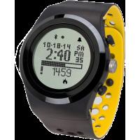 Montre d'activité physique connectée Brite R450 noire et jaune