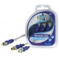 HQ câble RCA mâle - 2x RCA femelles - 0.2m
