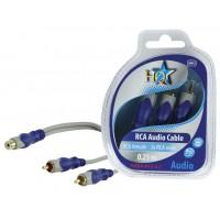 HQ câble RCA femelle - 2x RCA mâles - 0.2m
