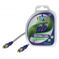 CABLE RCA MALE - RCA MALE 75 OHMS SILVER HQ - 0.7m