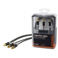 CABLE AUDIO 2X RCA VERS JACK 3.5MM 0.75M KÖNIG