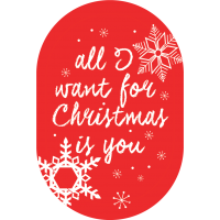 """Sticker support """"All I want for christmas is you"""" pour mobile"""