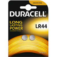 Lot de 2 piles boutons Duracell LR44