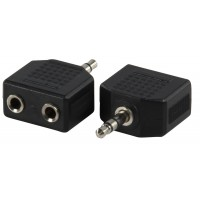 Valueline adapter plug 3.5mm stereo plug to 2 x 3.5mm stereo socket