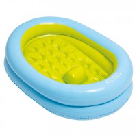 INTEX - Intex 48421NP bébé Set de Baignoire avec Pompe à Main, Bleu
